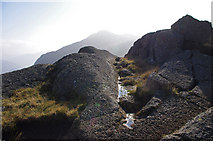 NY2807 : Outcrop on Pavey Ark by Ian Taylor
