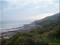 SH2428 : The beach below Mynydd y Graig by Eric Jones