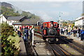 SH5738 : David Lloyd George Shunts at Porthmadog Harbour Station by Peter Trimming