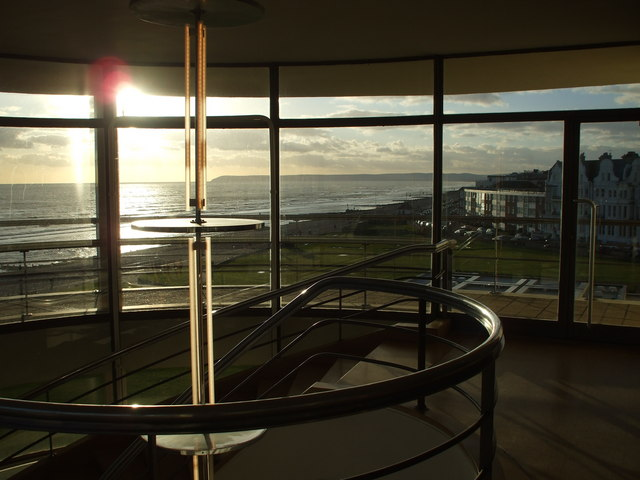 Top of the staircase, De la Warr Pavilion, Bexhill