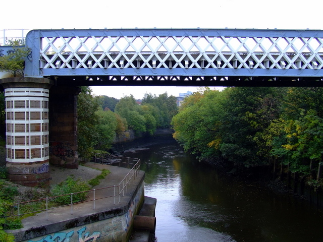 Railway bridge at Partick