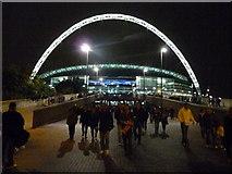 TQ1985 : London : Wembley - Olympic Way & Stadium by Lewis Clarke