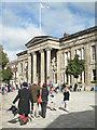 SJ9173 : Morris man, Market Place, Macclesfield by Robin Stott