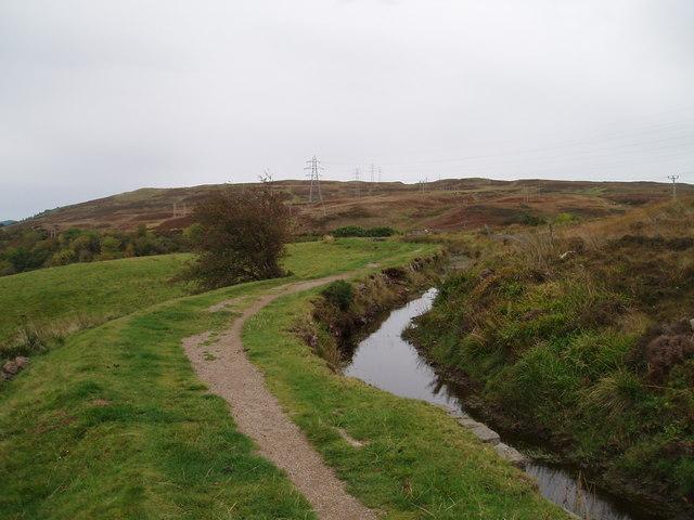Path alongside the Greenock Cut