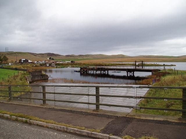 Spillway at compensation reservoir