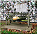 TG1439 : The church of St Helen and All Saints, West Beckham - seat by Evelyn Simak
