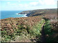 SW4740 : Part of the South West Coast Path between Zennor and St Ives by Jeremy Bolwell