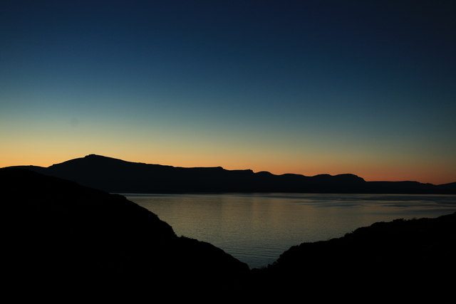 Sunset over the Sound of Raasay