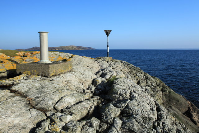 Navigation points at Rubha Ard Ghlaisen