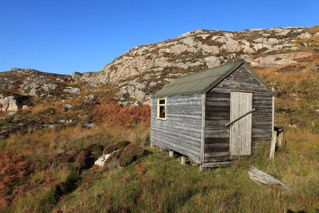 Hut on the west coast of Raasay