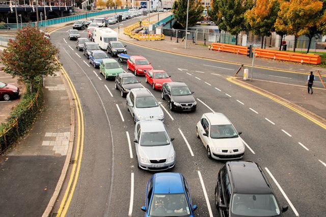 Queen Elizabeth Bridge traffic, Belfast