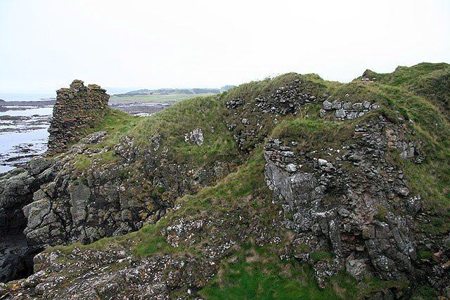 The remains of Turnberry Castle