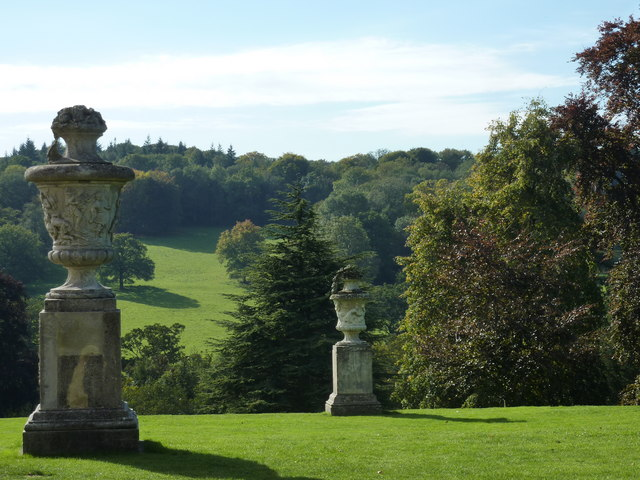 View across the South Lawn from the house at Polesden Lacey