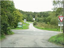 NX4564 : Crossroads at Stronord by Ann Cook
