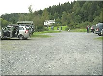 NX4564 : Car park at Kirroughtree Forest Park by Ann Cook