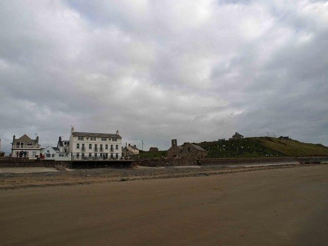 Aberdaron beach and hotel