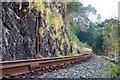 SH6139 : Ffestiniog Railway Track at Penrhyndeudraeth, Gwynedd by Peter Trimming