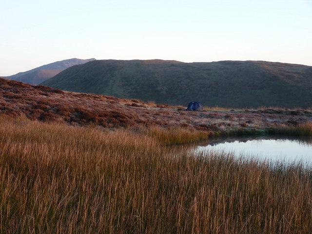 Wild camp, Llyn Foeldinas