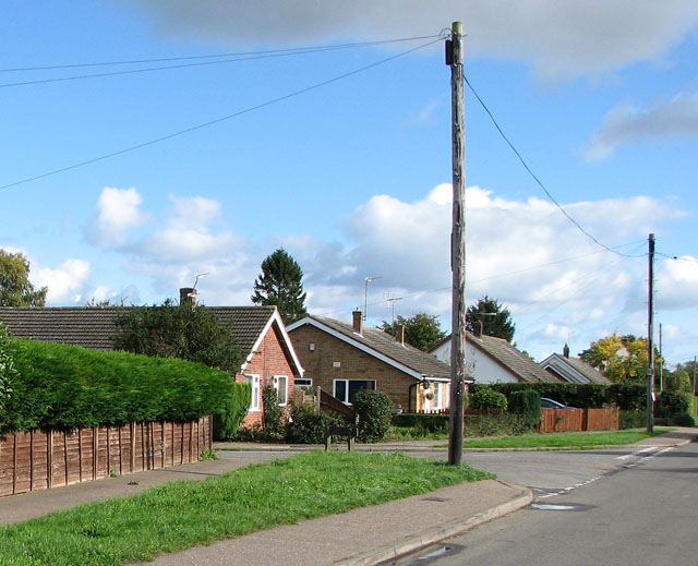 Bungalows in Mill Road, Blofield Heath