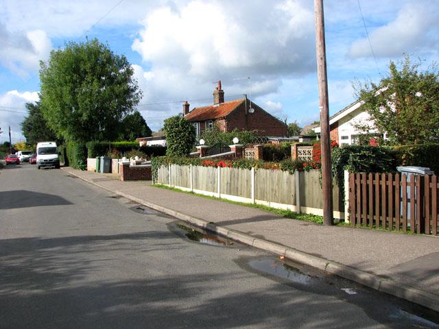 Bungalows in Mill Road, Blofield Heath