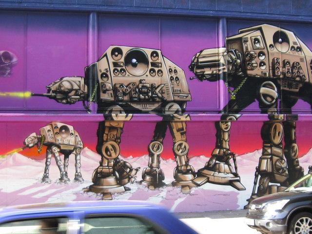war machines graffiti
