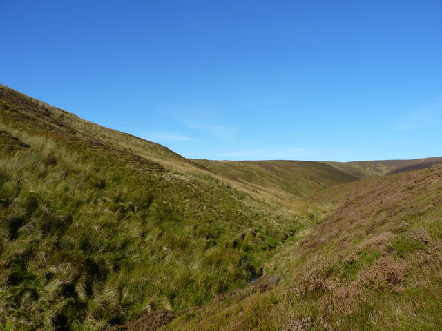 The valley of the upper Nant Maesglase