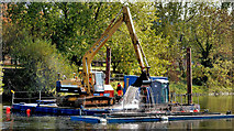 J3371 : Dredging the River Lagan, Belfast -  2010/11 (32) by Albert Bridge