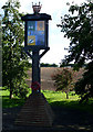 TQ8889 : Sutton with Shopland Village Sign by terry joyce