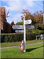 TM2867 : Old Roadsign on  the B1116 Laxfield Road by Geographer