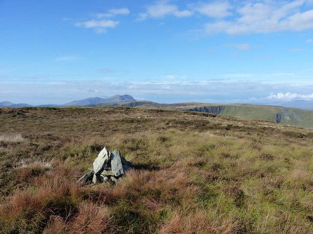 The summit cairn of Craig Rhiwerch