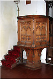 TG4802 : All Saints' church in Belton - the pulpit by Evelyn Simak