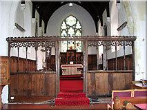 TG4802 : All Saints' church in Belton - C15 chancel screen by Evelyn Simak