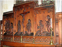 TG4802 : All Saints' church in Belton - the reredos by Evelyn Simak