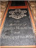 TG4802 : All Saints' church in Belton - ledger slab by Evelyn Simak
