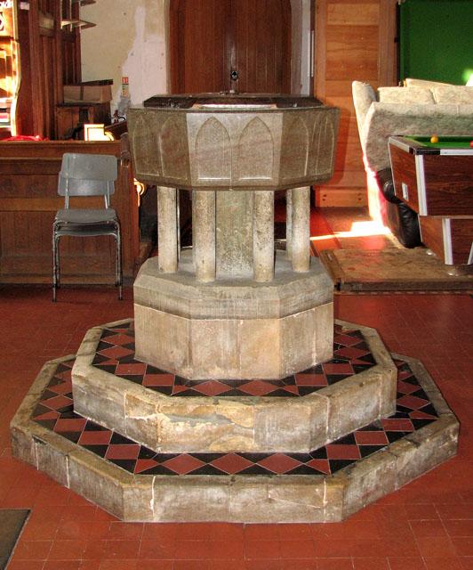 All Saints' church in Belton - Norman baptismal font
