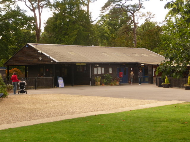 Exbury: Exbury Gardens entrance and gift shop by Chris Downer