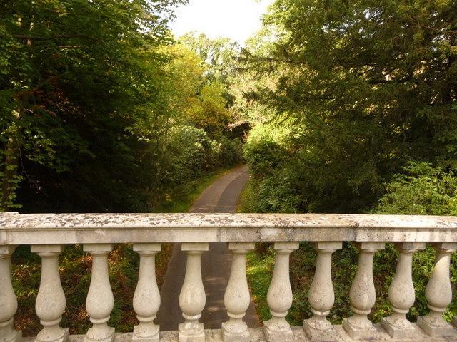 Exbury: Gilbury Lane from the bridge above by Chris Downer