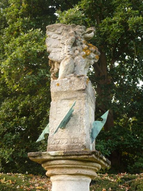 Exbury: the sundial in the Sundial Garden by Chris Downer