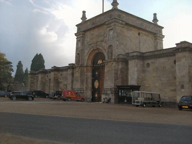 Entrance to Blenheim Palace