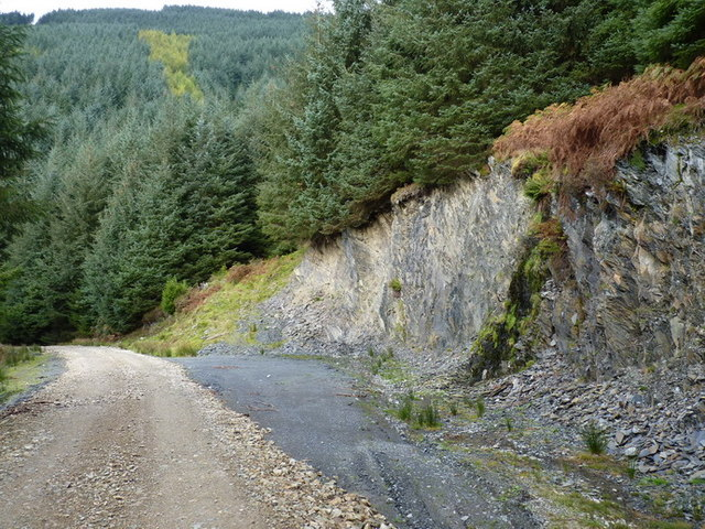 A small trackside quarry
