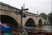 TQ1774 : Thames Path sign, Richmond Bridge by N Chadwick