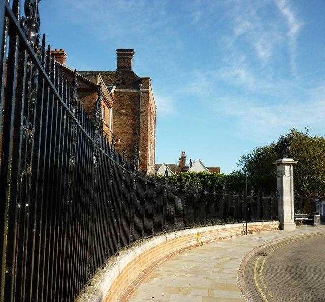 Railings at Colchester Castle