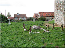 TF7633 : All Saints' church in Bircham Newton - churchyard by Evelyn Simak