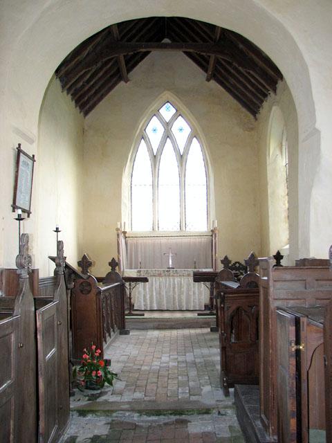 All Saints' church in Bircham Newton - the chancel