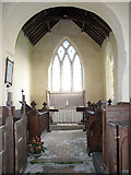 TF7633 : All Saints' church in Bircham Newton - the chancel by Evelyn Simak