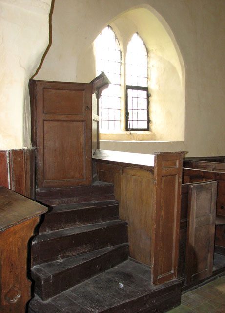 All Saints' church in Bircham Newton - the pulpit