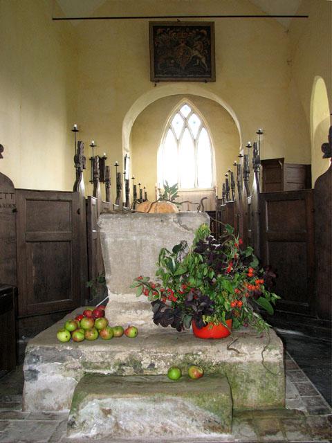 All Saints' church in Bircham Newton - Norman font