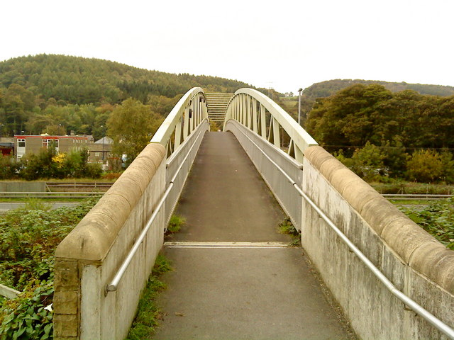 Footbridge from the canal towpath