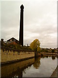 SE1039 : Chimney by the canal in Bingley by Andrew Abbott
