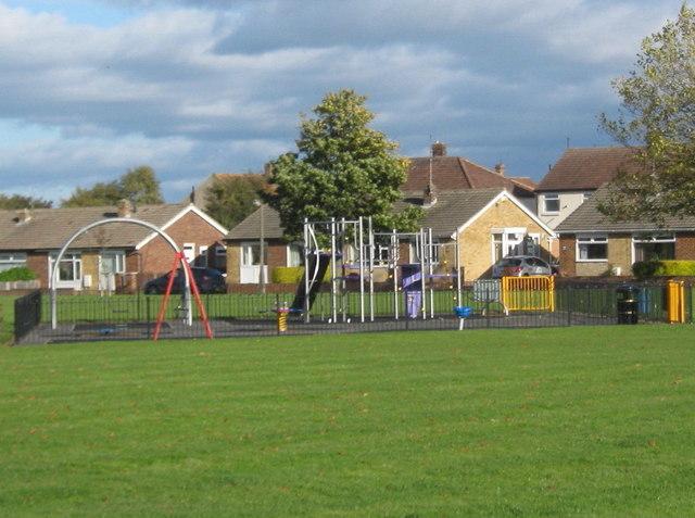 Play area on Carlton Avenue green Billingham
